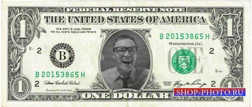 Рамка для фотомонтажа - Ваш портрет на американском долларе