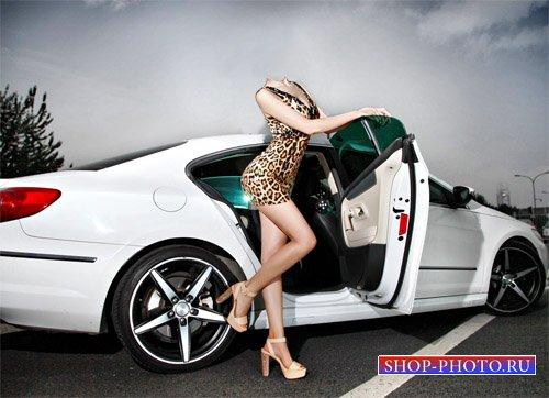 Шаблон psd женский - Фотосессия рядом с авто