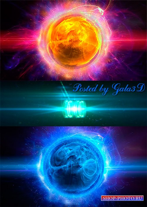 HD футажи Flame stars и переход