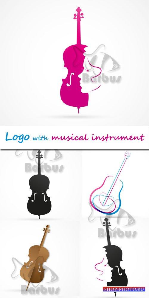 Logo with a musical instrument / Логотипы с музыкальными инструментами - Ve ...