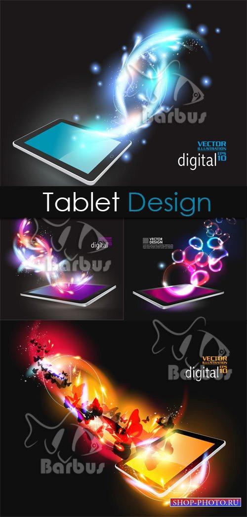 Digital tablet design / Дизайнерские решения с планшетами