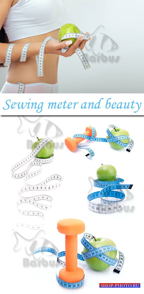 Sewing meter and beauty / Швейный метр и красота - Photo stock