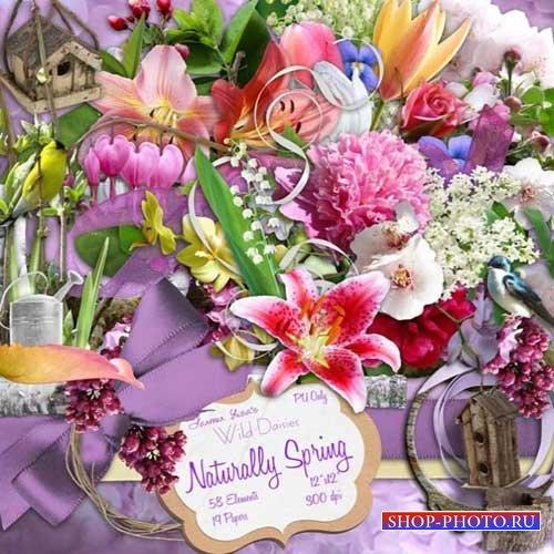 Цветочный скрап-набор - Весенняя естественность