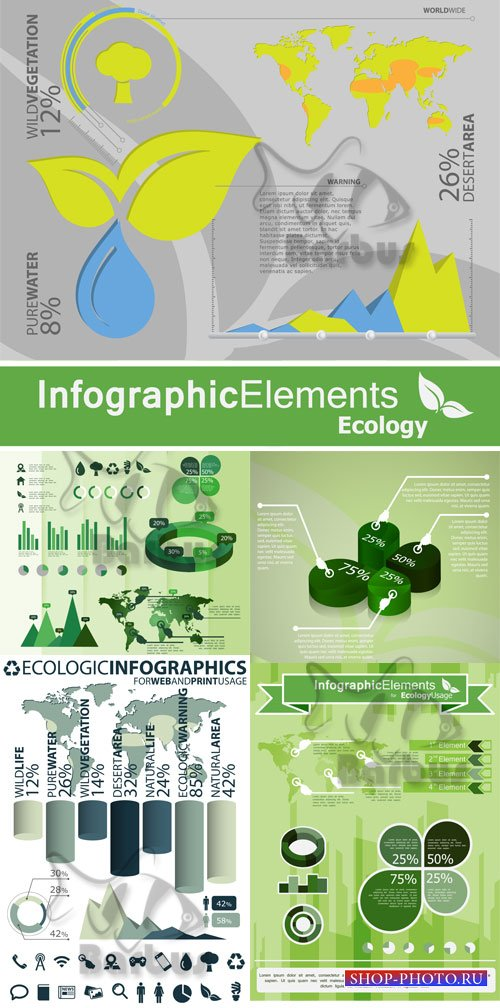 Infographic elements - ecology / Инфографика  - Экология