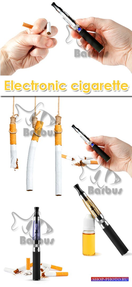 Electronic cigarette / Электронная сигарета - Photo stock