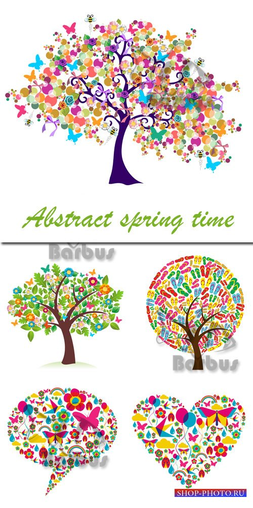 Abstract spring time / Весенние абстракции - vector stock
