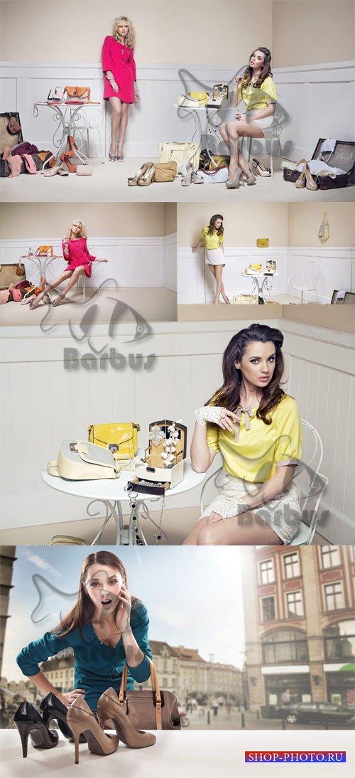 Shopping - difficult choice / Шопинг - тяжелый выбор - Photo stock