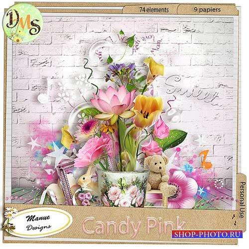 Цветочный скрап-набор - Нежно розовый