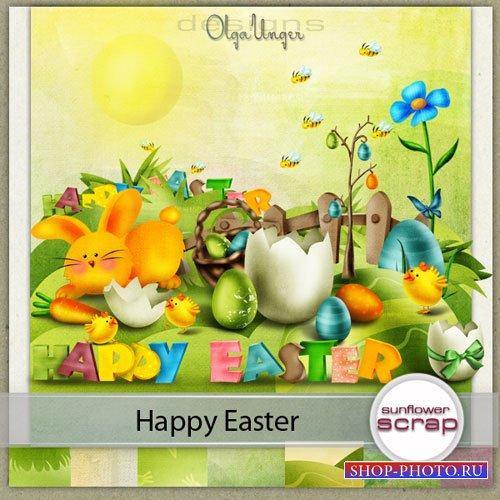 Яркий пасхальный скрап-набор - Happy Easter