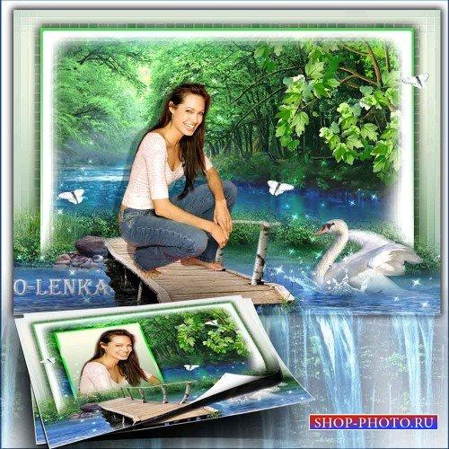 Рамка для фотошопа - Мой лебедь