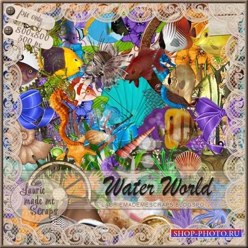 Морской скрап-набор - Водный мир