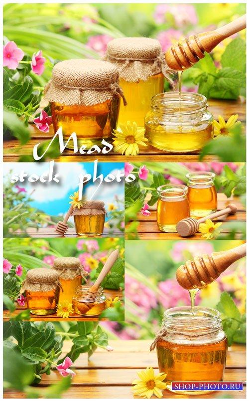 Мед, продукты пчеловодства - растровый клипарт