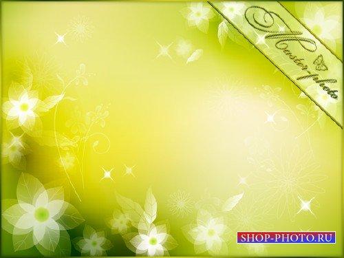 Многослойный PSD исходник для фотошопа - Весеннее цветение