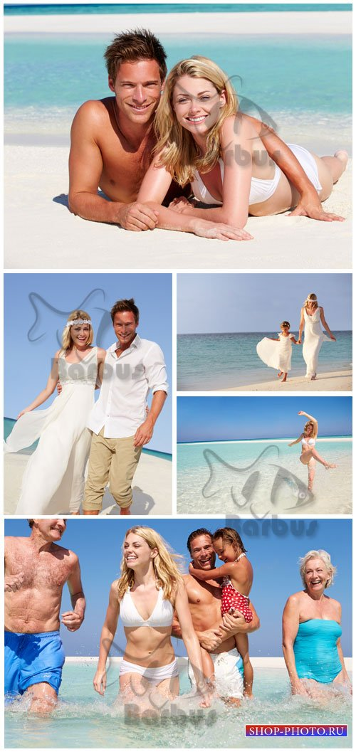 Family sea tour / Семейный отдых на морском побережье - Photo stock
