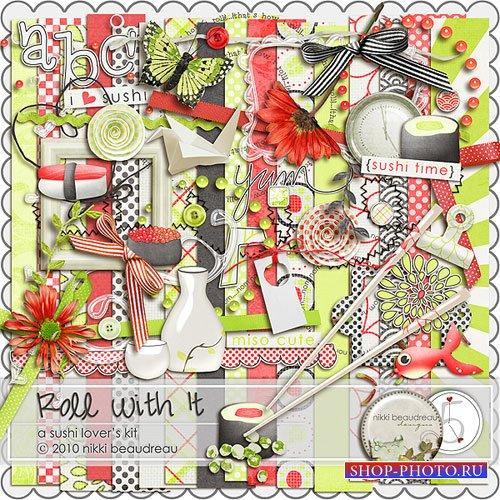 Скрап-набор для любителей роллов и суши - Роллы