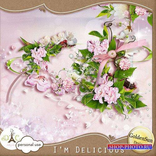 Цветочный скрап-набор - Изысканный