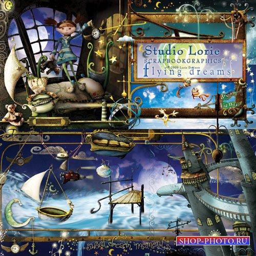 Детский сказочный скрап-набор - Летающие мечты