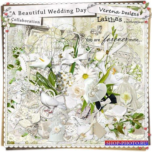 Свадебный скрап-набор - Прекрасный свадебный день