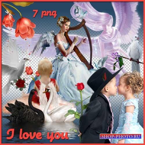Романтический скрап-набор - I love