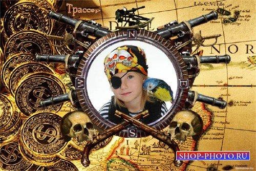Фоторамочка детская - Сокровища капитана Флинта