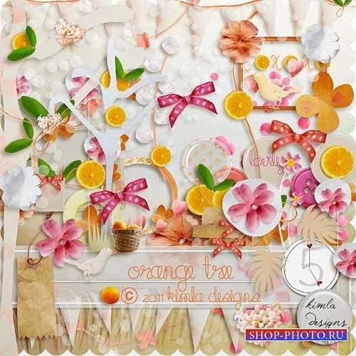 Цветочно-фруктовый скрап-набор - Апельсиновое дерево