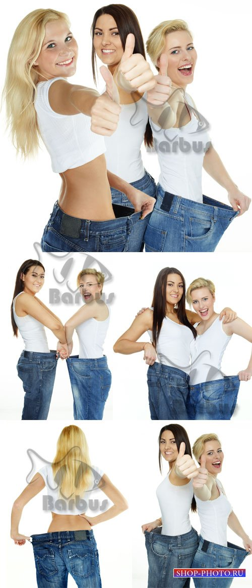 Beautiful girls are proud to lose weight / Красивые девушки демонстрируют п ...