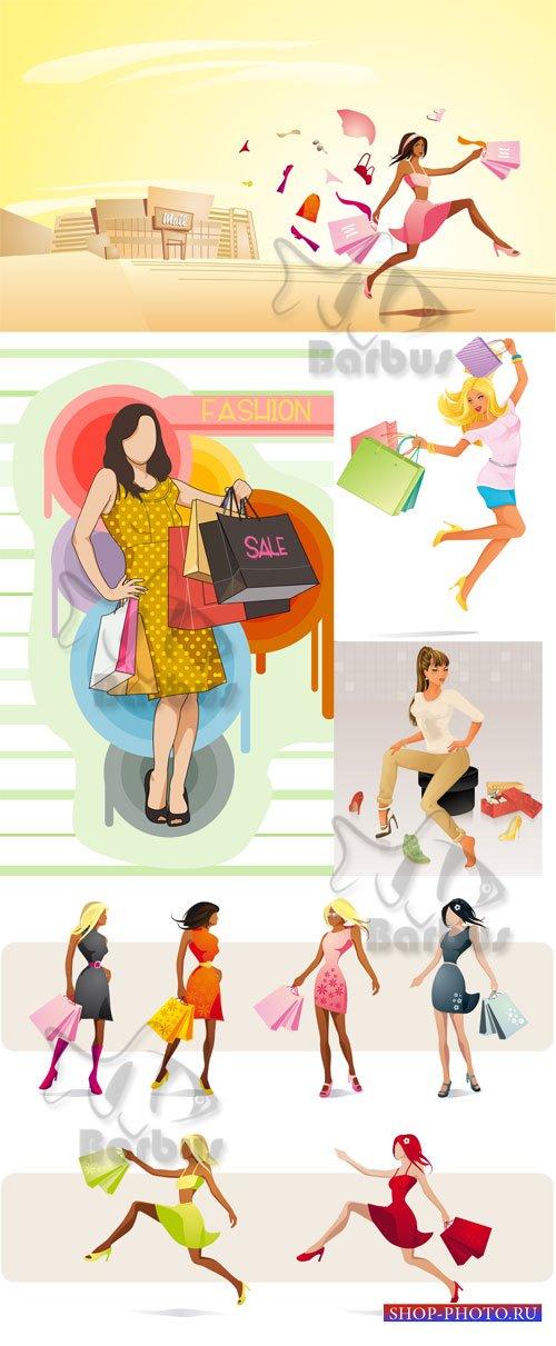 Happy women with purchases / Счастливые женщины с покупками