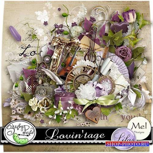 Романтический винтажный скрап-набор - Винтаж любви