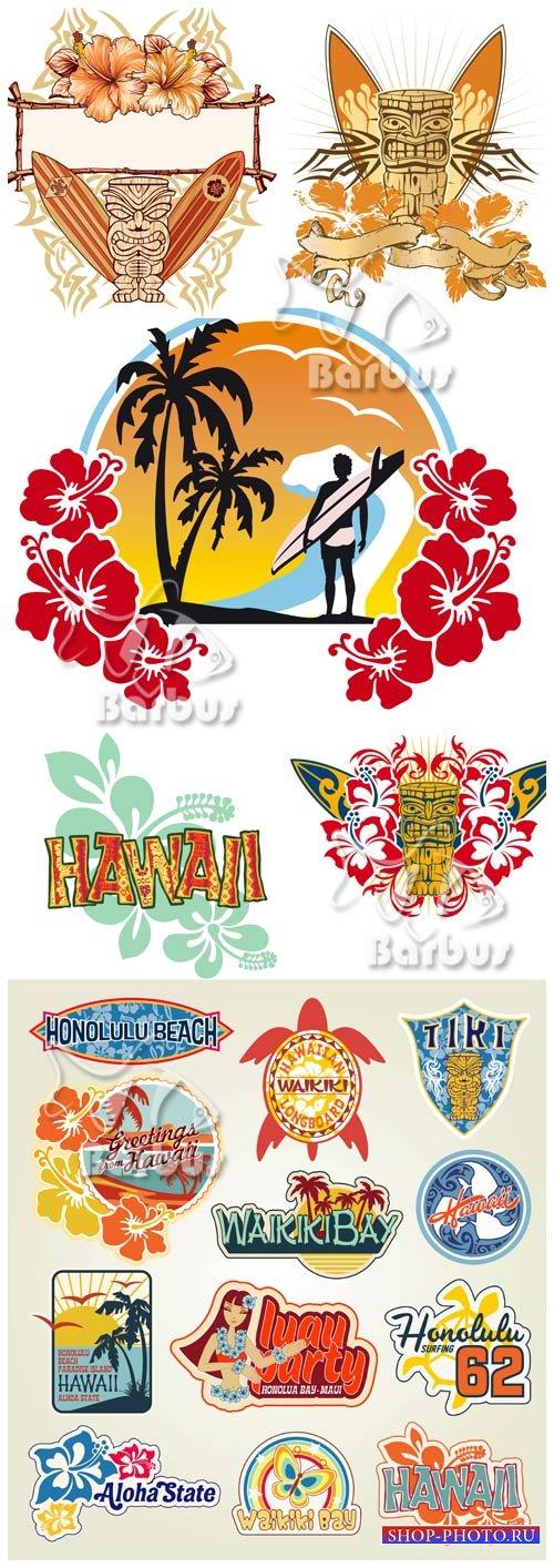 Hawaii and hibiscus flowers / Гавайи и цветы гибискуса