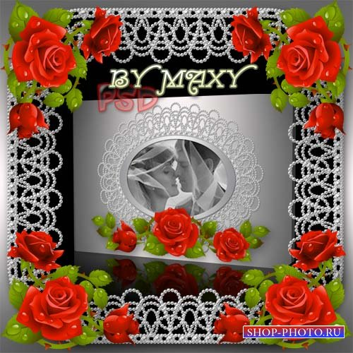 Свадебная фотокнига PSD - Прекрасные розы украсят торжество