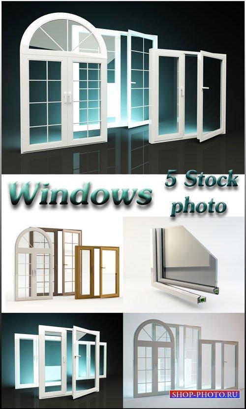 Металлопластиковые окна, профили - растровый клипарт