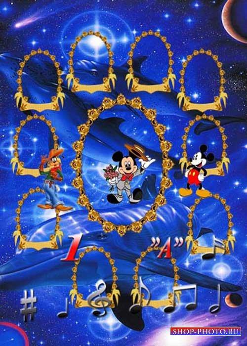 Детская виньетка - Музыкальный Микки Маус