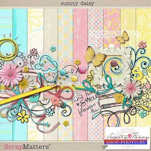Цветочный летний скрап-набор - Солнечная ромашка