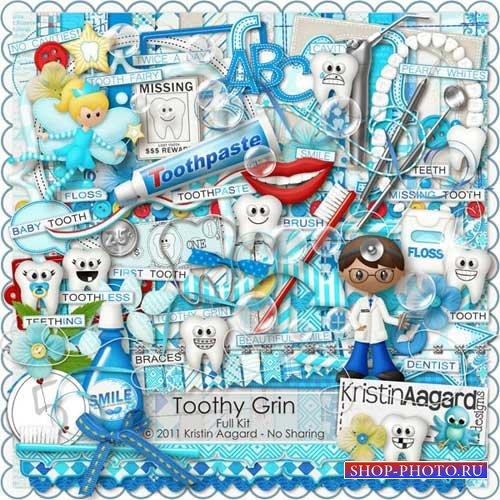 Детский стоматологический скрап-набор - Обаятельная улыбка