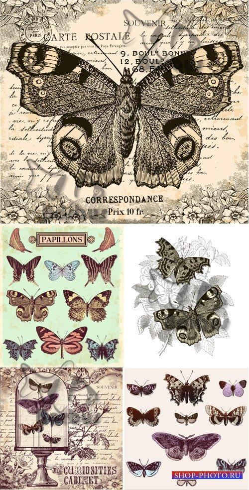 Vintage butterflies / Винтажные бабочки