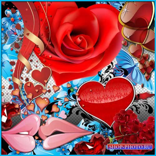 Романтический скрап-набор - Сердечная любовь