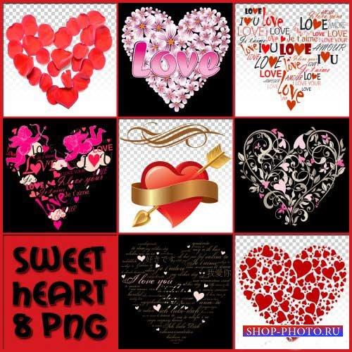 Романтический скрап-набор - Милое сердечко