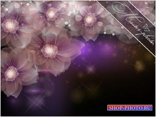 Многослойный PSD исходник - Волшебные цветы