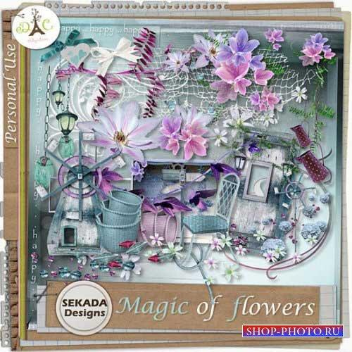 Цветочный скрап-набор - Магия цветов