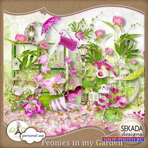 Цветочный скрап-набор - Пионы в моём саду