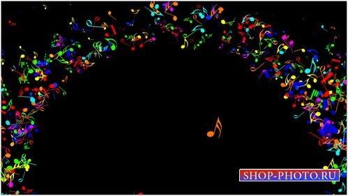 Футаж для дизайна видео музыкальных конкурсов