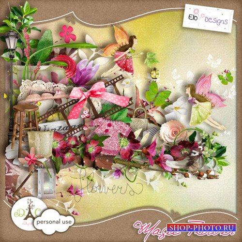 Цветочный скрап-набор - Магический цветок
