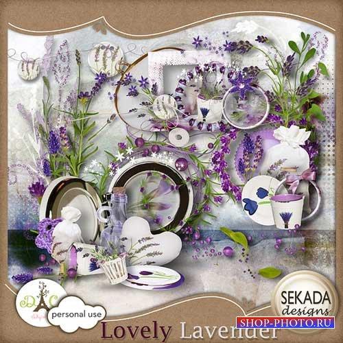 Симпатичный цветочный клипарт скрап-набор - Дивная лаванда