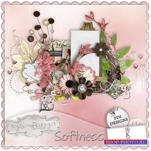 Цветочный клипарт скрап-набор - Нежность