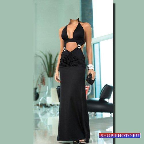 Шаблон для фотошопа - Бесподобное вечернее платье