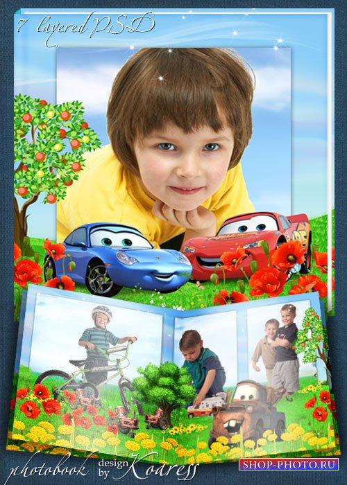 Детский летний фотоальбом с мультперсонажами - Тачки - Лето в Радиатор Спри ...