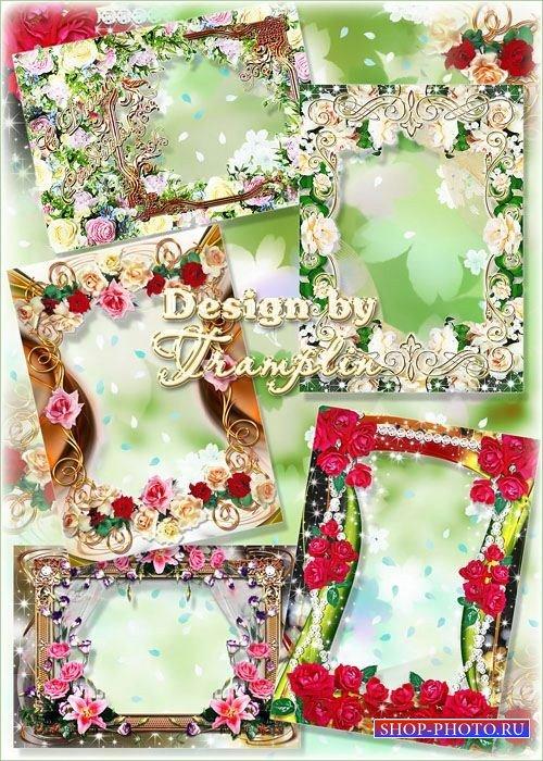 Набор цветочных рамок для фото - Каждый цветок – он по-своему нарядный