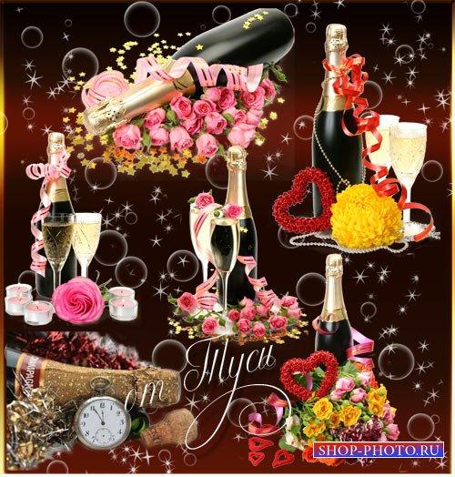 Свадебный Клипарт – Ночь счастья, шампанского и цветов - 2