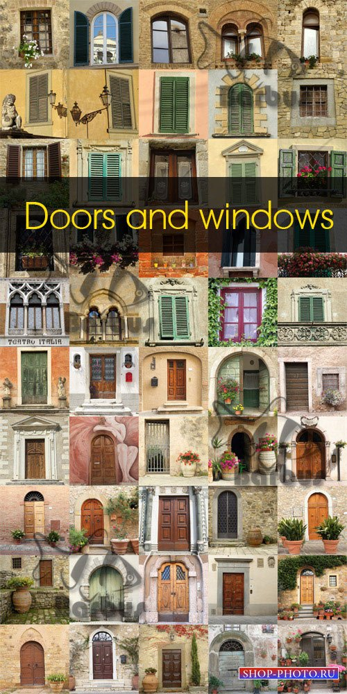 Doors and windows / Окна и двери - Photo stock