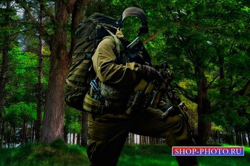 Военный Шаблон для фотошопа  - Я На задании